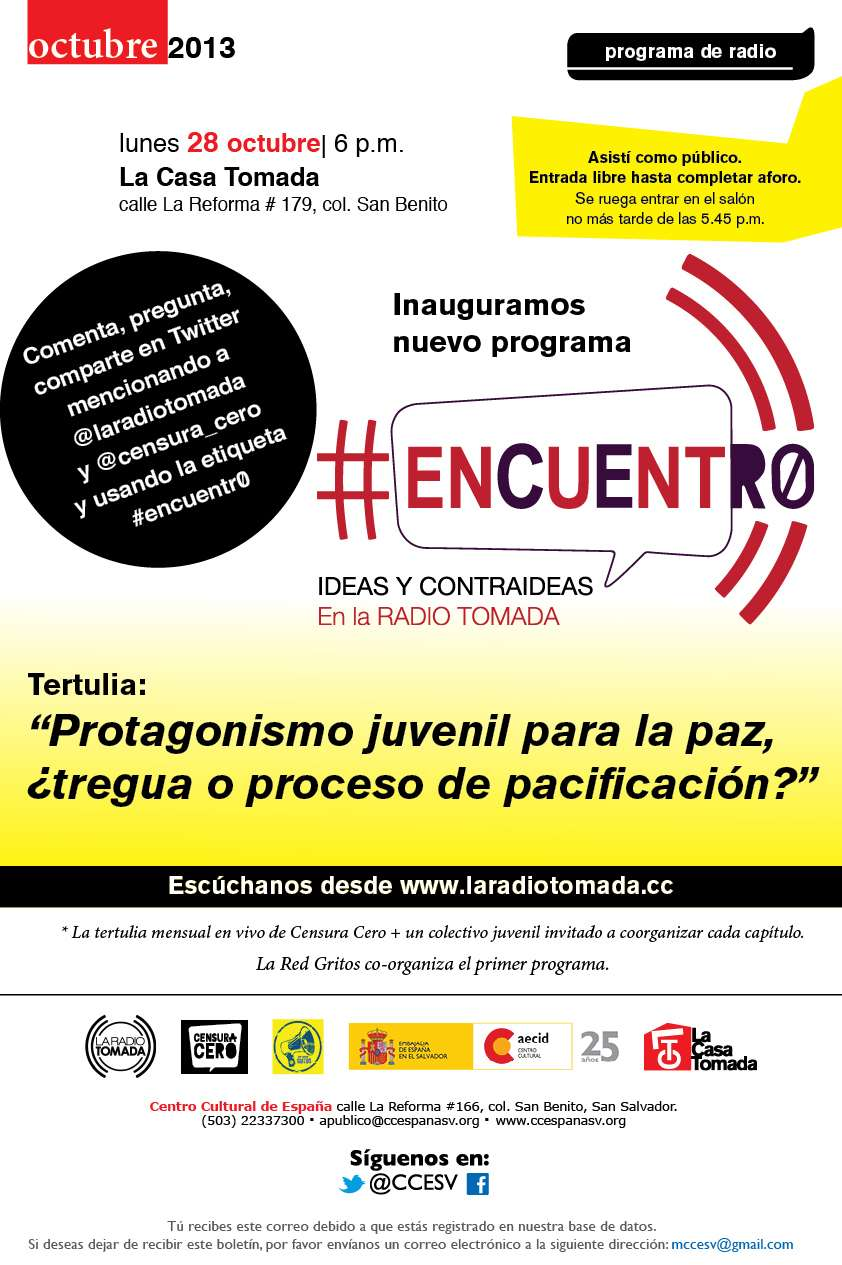 #Encuentr0, el programa de Censura Cero para la Radio Tomada