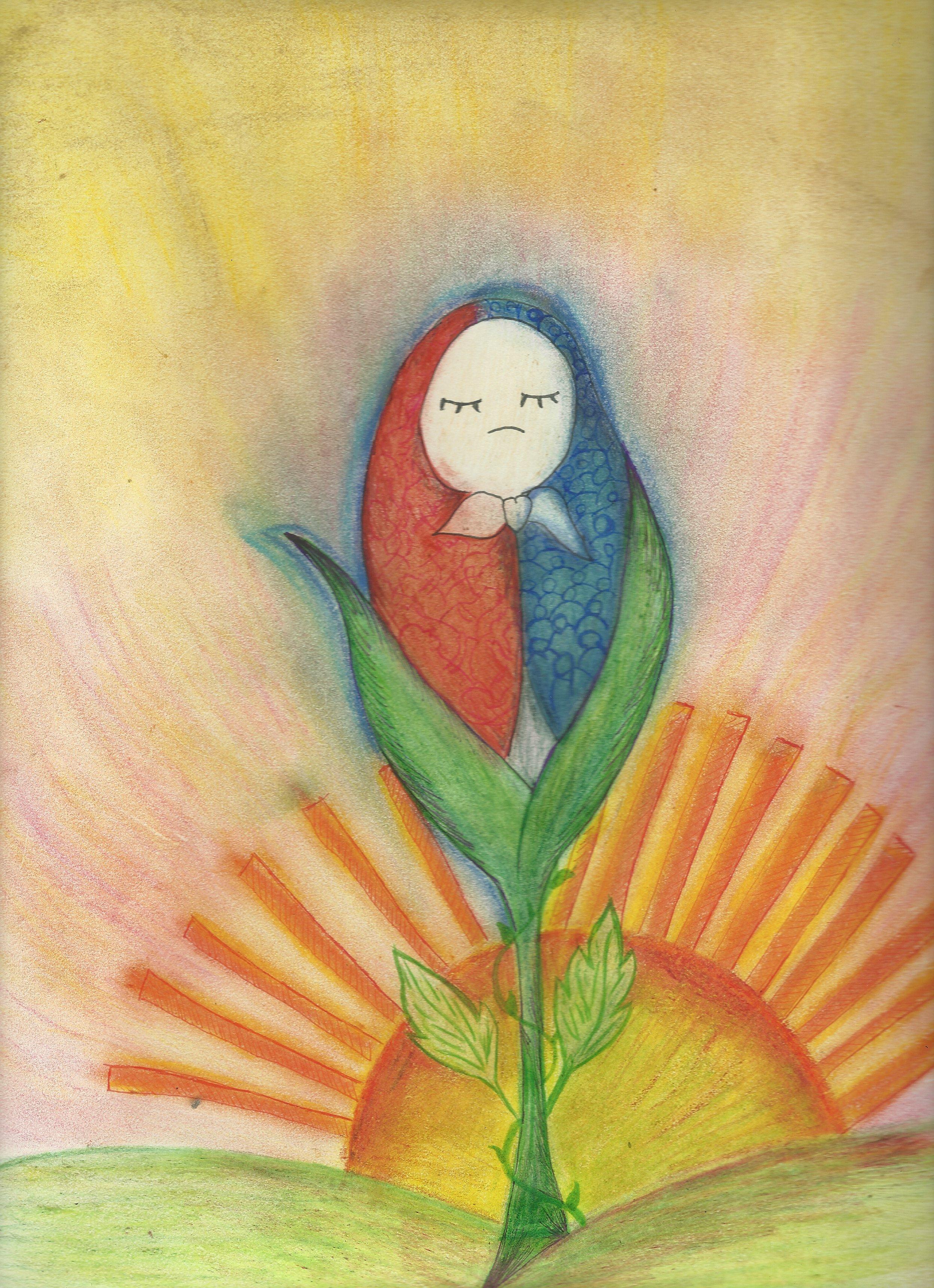 Ilustración de Janeth Medrano, alumna de la UDB.
